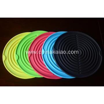 Sink Self-draining Silicone drying Mat Pot Holder